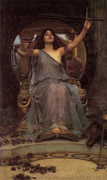 357px-Circe_Offering_the_Cup_to_Odysseus by John William Waterhouse