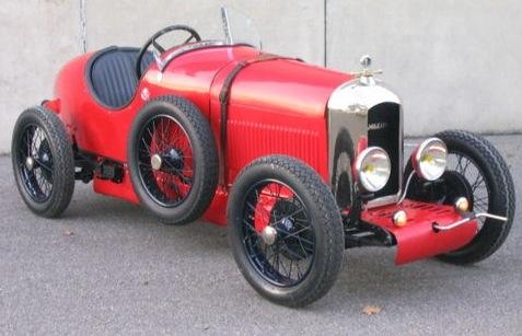 A 1927 Italian Amilcar automobile.