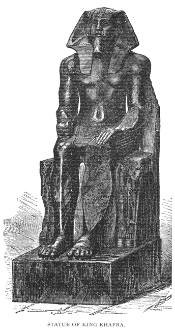 A statue depicting Khafra, currently housed at the Egyptian Museum on Cairo.