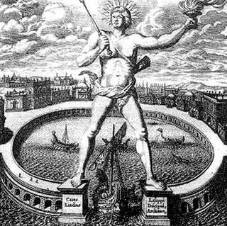 The legendary Colossus of Rhodes, one of the Seven Wonders of the Ancient World, depicted Helios, the Greek sun god, for whom the first day of the week was named.