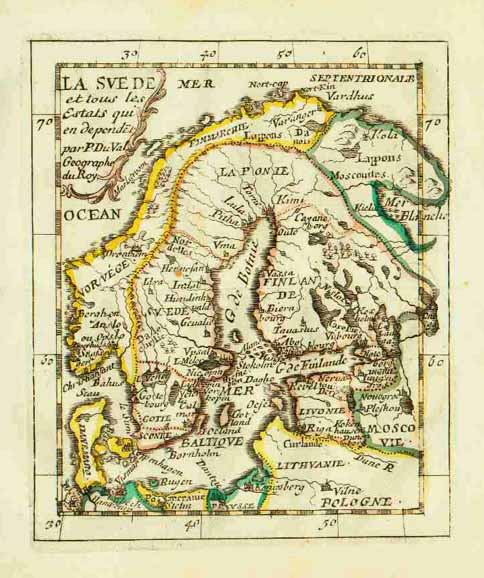 A Medieval map of Scandinavia.